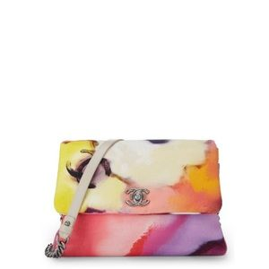 Chanel Flap Flower Power Handbag Multicolor